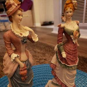 2 - 9 in Tall Beautiful Vintage Porcelain Gals